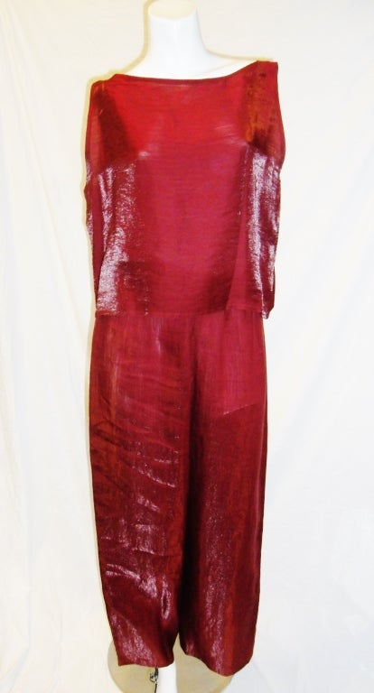 Zoran Red linen Top and Pants set at 1stdibs