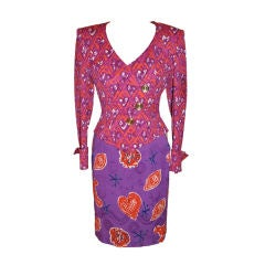 """Lacroix multi-colored """"Hearts"""" Holiday suit"""