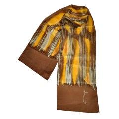 JoAnn Abstract silk scarf