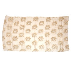 Silk and chiffon with metallic gold accent scarf