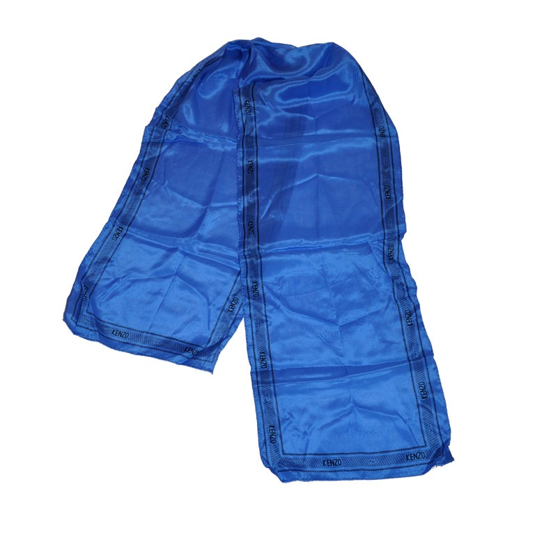 Kenzo blue logo scarf