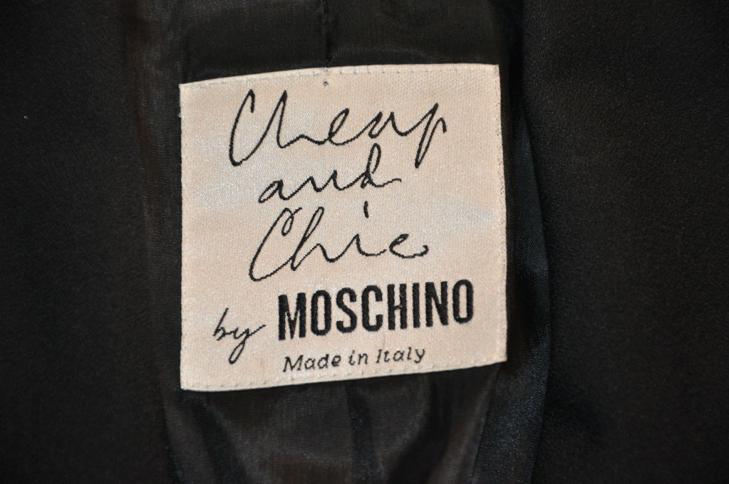 Women's Moschino Sharp Black with contrast ribbon jacket For Sale