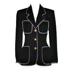 Moschino Black with contrast ribbon jacket