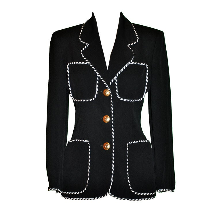 Moschino Sharp Black with contrast ribbon jacket