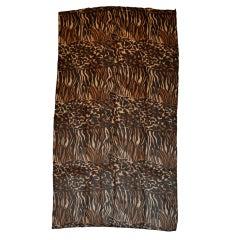 "Dana Buchman silk chiffon ""leopard"" print scarf"