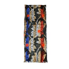 Yves Saint Laurent Multicolor Silk Chiffon with Lame and embroidery scarf