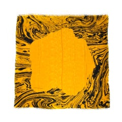 Charles Jourdan Black & Yellow Silk scarf