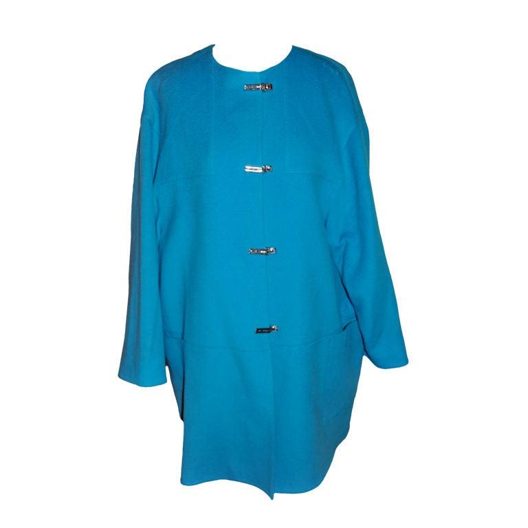 Claude Montana Turquoise car coat