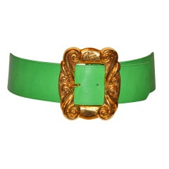 Christian Lacroix neon green with gold hardware belt