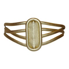 Paloma Picasso metallic gold belt