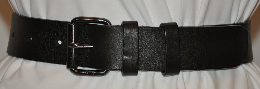 Prada Men\u0026#39;s Black buttersoft calfskin belt For Sale at 1stdibs
