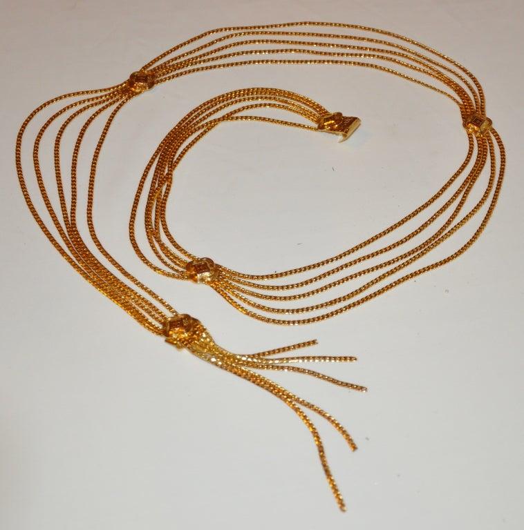 Signed Christian Dior Multi-Chain Gold Hardware Belt 4
