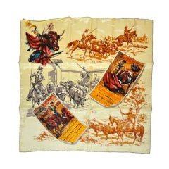 Scarf with scenes of Spain