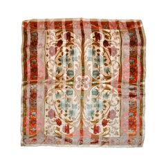 Valentino multicolor floral print silk scarf