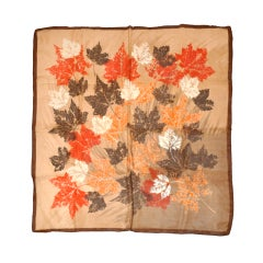 "Silk ""Autum Leaves"" silk scarf"