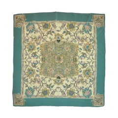 Basile floral print silk scarf