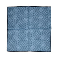 Celine men's blue cotton handkerchief