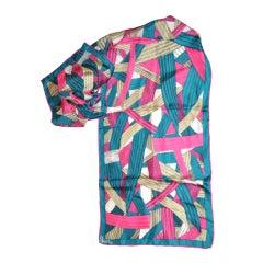 Vera multicolor silk scarf