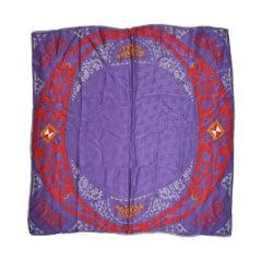 "Multicolor ""O"" silk scarf"