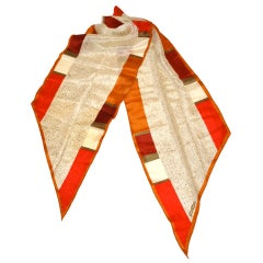 Albert Nipon Abstract silk scarf