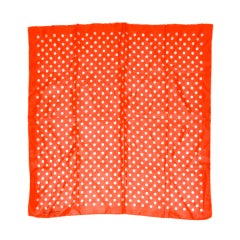 Christian (Paris) red & white polka dot silk scarf