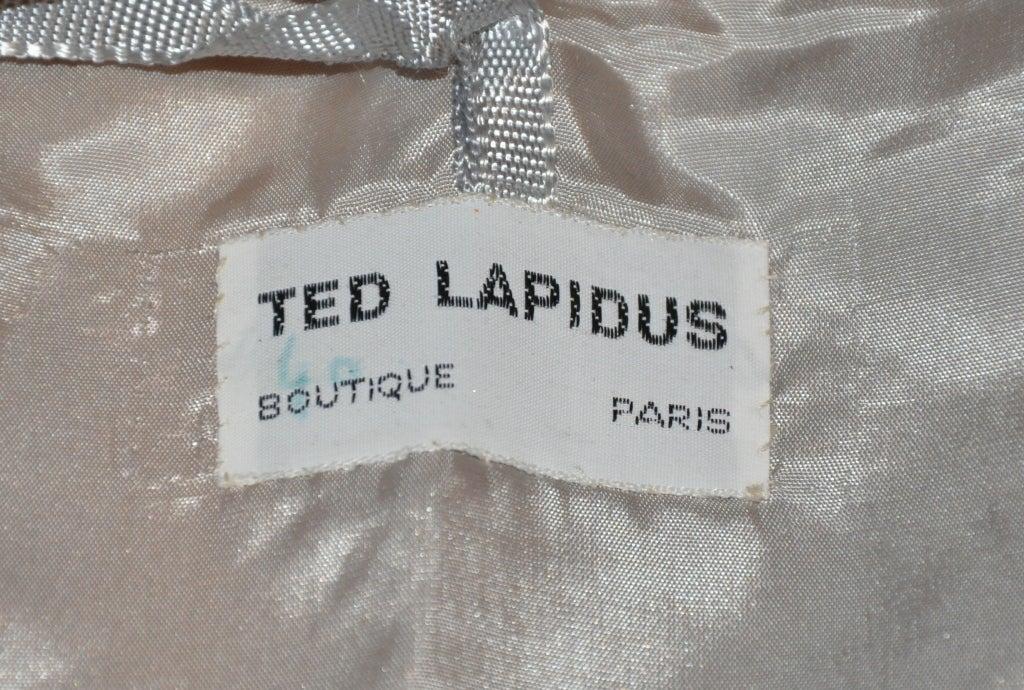 Ted Lapidus metallic silver calfskin bustier 3