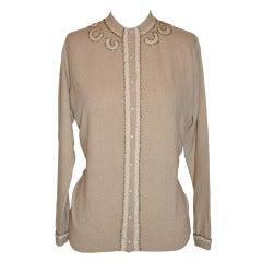 Lyle & Scott for Bergdorf Goodman Cashmere Embroidered Cardigan
