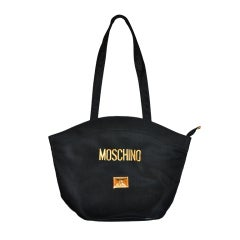 Moschino black nylon shoulder bag