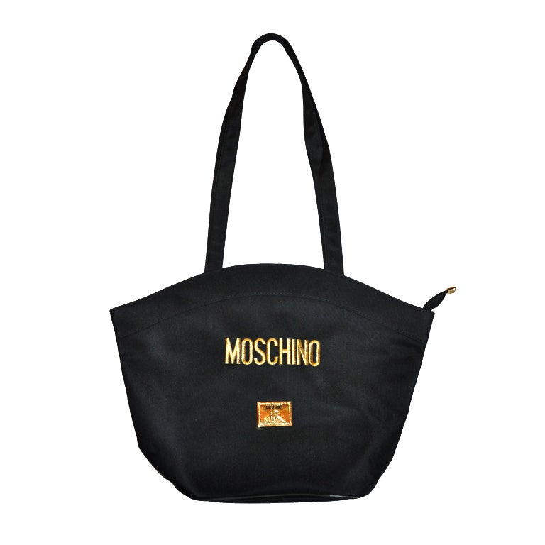 Moschino black nylon shoulder bag For Sale