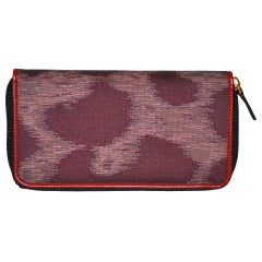 Vivienne Westwood silk & leather zippered wallet