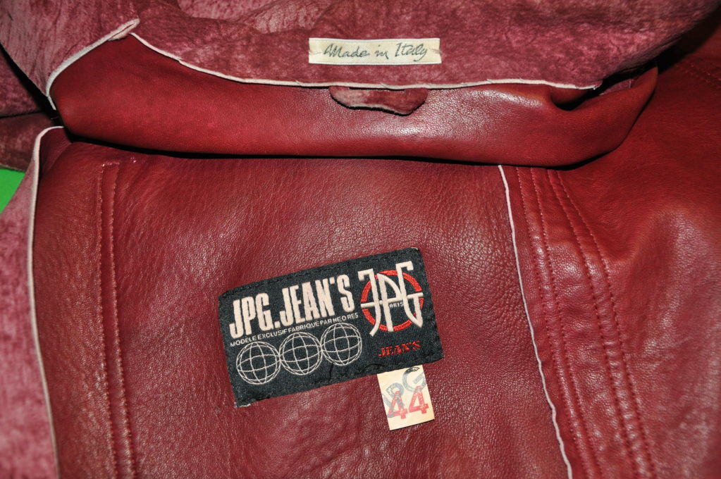 Iconic Jean Paul Gaultier Leather double-breasted Jacket 3
