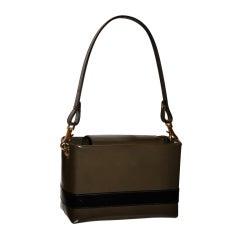 Redwall Khaki & black calfskin handbag