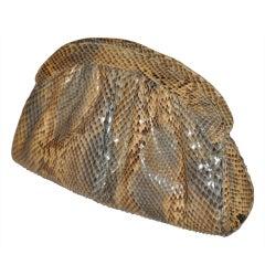 Morris Moskowitz reptile zipper clutch