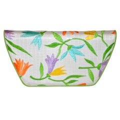 Charles Jourdan Embroidered Floral Clutch with Optional Straps