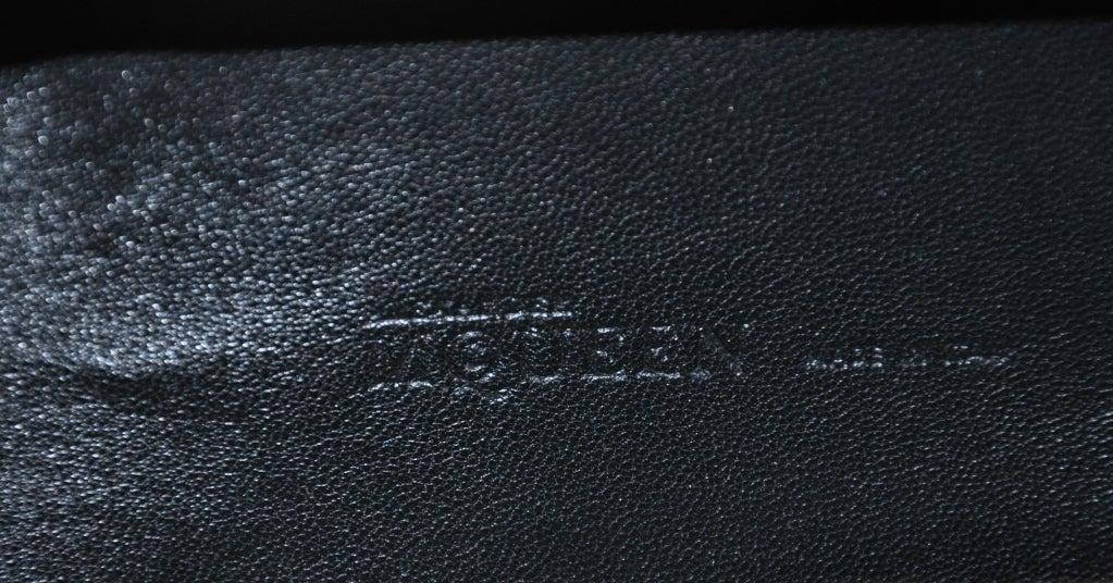 """Alexander McQueen Bronze textured """"Leaf"""" motif clutch image 7"""