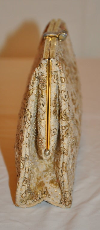 Rare Silver with gold overlay micro embroidered clutch 3