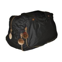 Stella McCartney black handbag with gold hardware