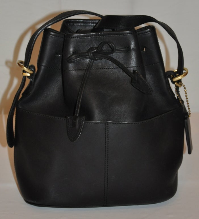 Coach Black Calfskin Hobo Drawstring with Detachable Straps Bag 3