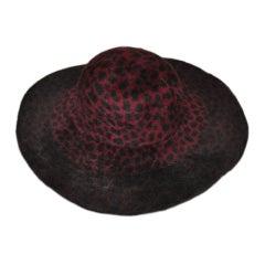 Anna Sui large-brim leopard hat