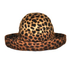 """Eric Javits Hats"" leopard print wool felt hat"