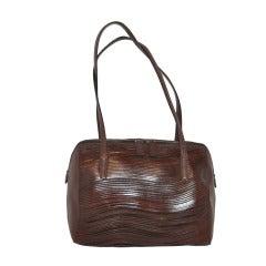 Claude Montana Cut-Out Stenciled Calfskin Handbag