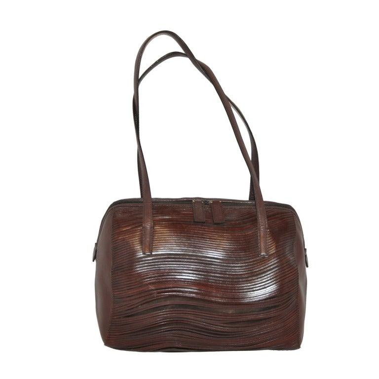 Claude Montana Cut-out Stenciled Calfskin Handbag n9F5TMa