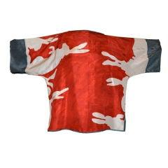 Iconic Michaele Vollbrach Abstract Silk tunic