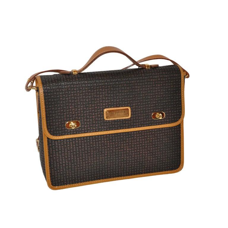 Ted Lapidus Signature Logo Embossed Handbag For