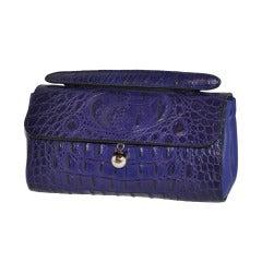 Furla's Deep-Plum embossed calfskin Handbag