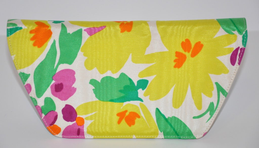 Charles Jourdan SIlk Floral Clutch 3