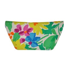 Charles Jourdan SIlk Floral Clutch
