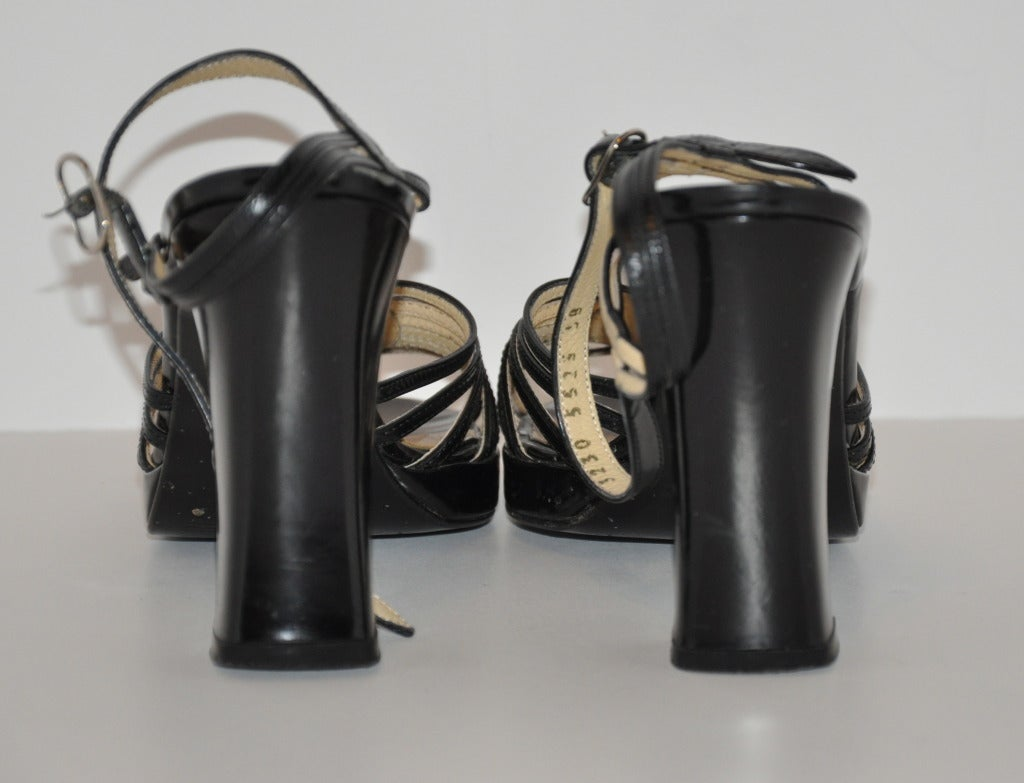 Dolce & Gabbana Black Chunky Sandal In Excellent Condition For Sale In New York, NY