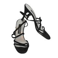 Mario Valentino Black suede evening sandal