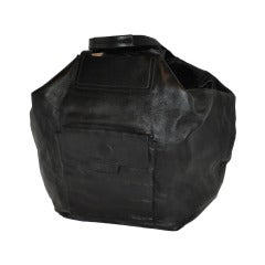 Jil Sander Huge Black Leather Tote